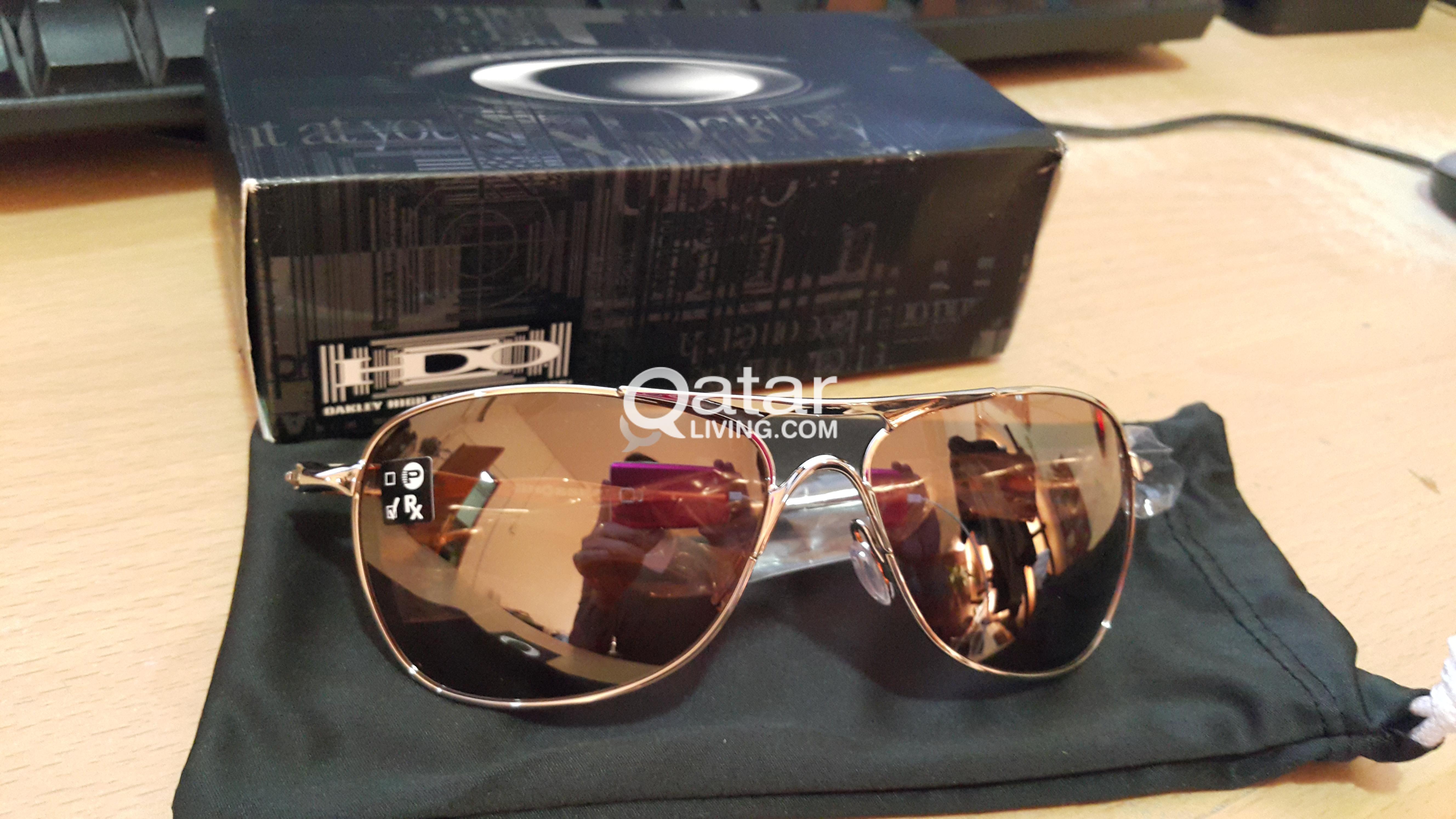 3a3b432f32 New Authentic Titanium Iridium Oakley Crosshair Polished Chrome w ...