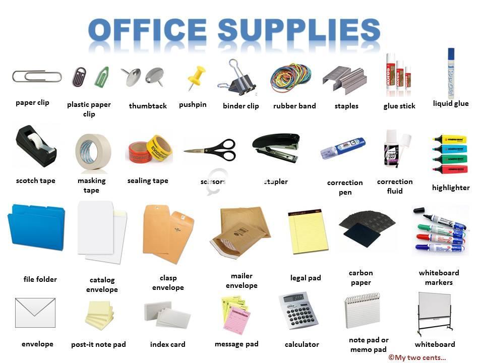 Office Supplies List