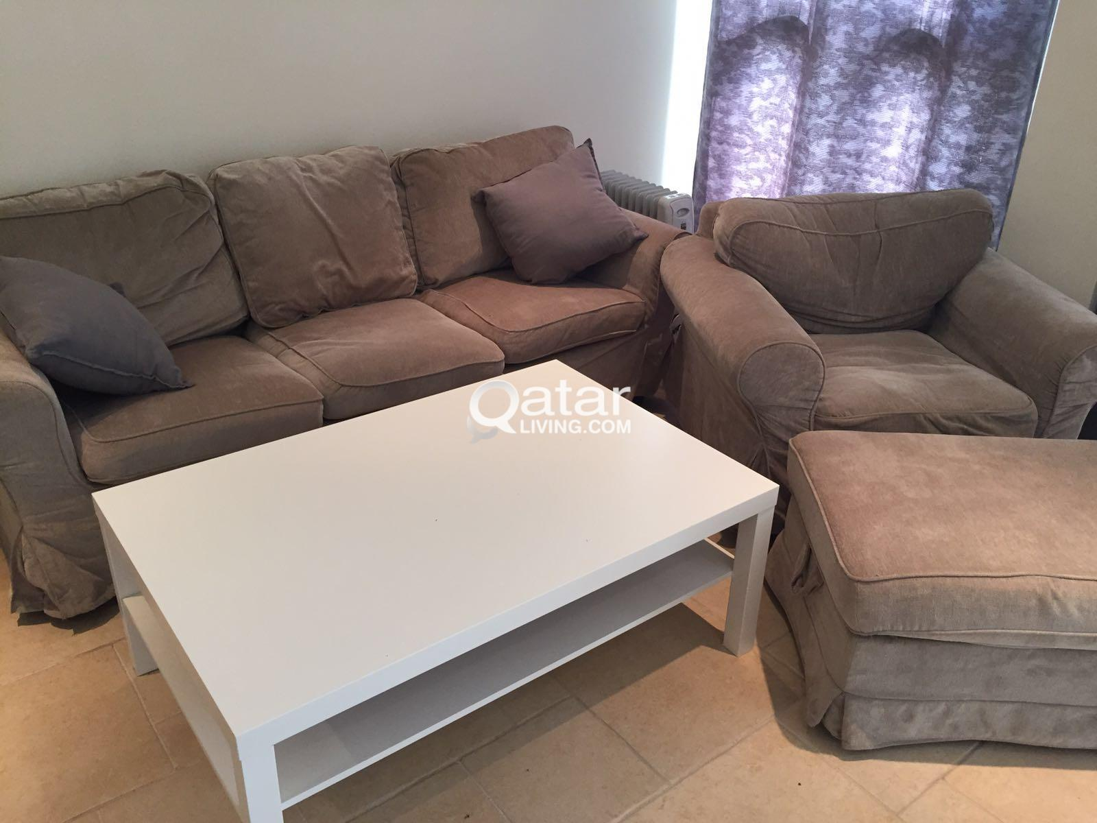 Living Room Set (3 items) - IKEA   Qatar Living