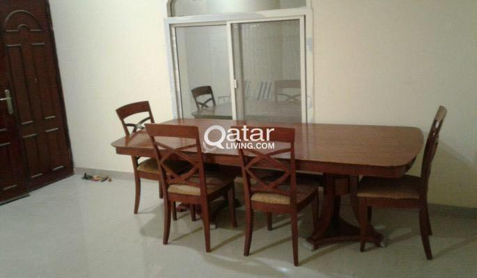Title Information Wooden Dining Table With Chair For Sale