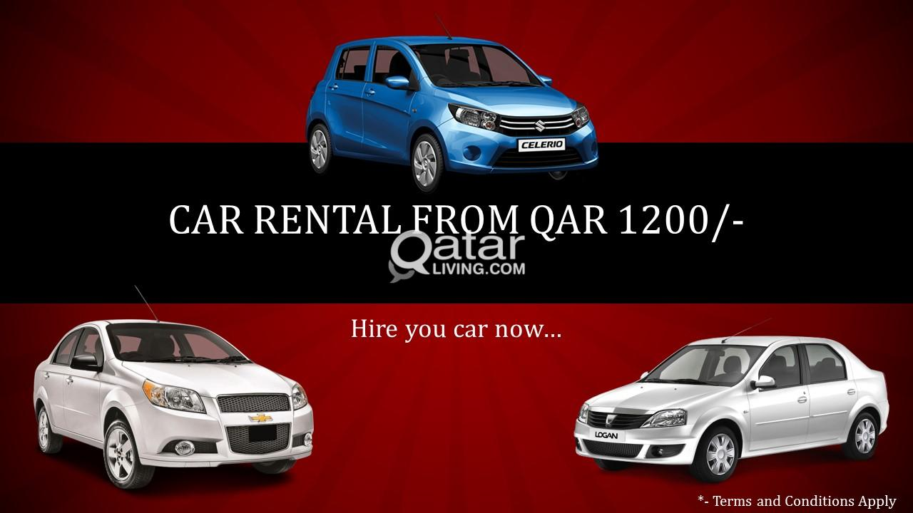 Monthly Rental Car >> Monthly Car Rental Starting From Qar 40 Per Day Qatar Living