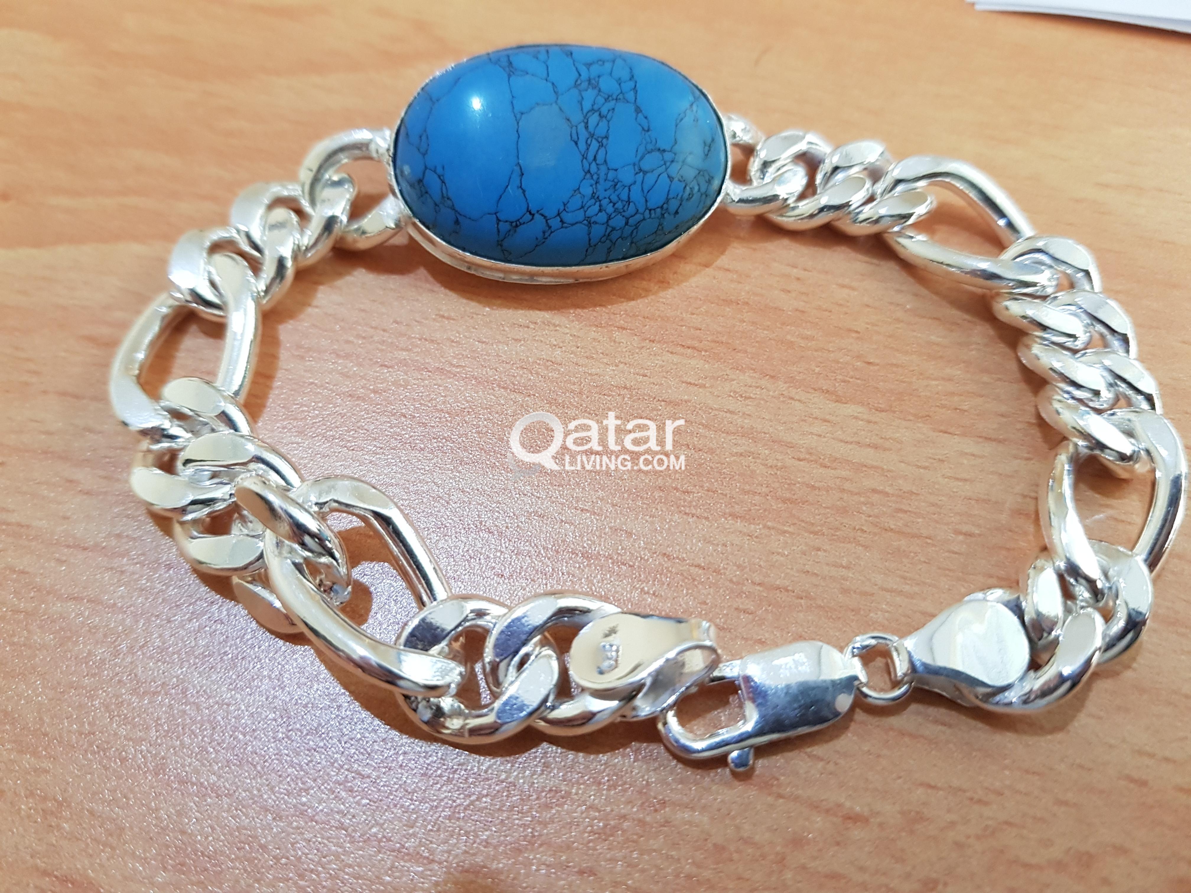 Hand Bracelet for men 47 grams silver pure 925