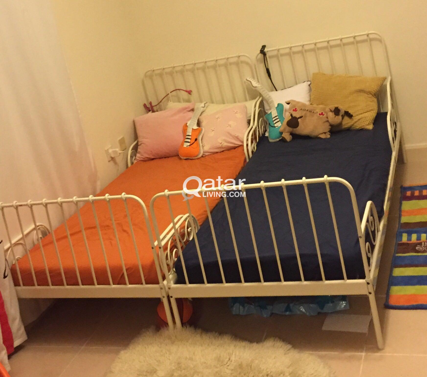 ikea child bed 2pcs extendable for kids qatar living
