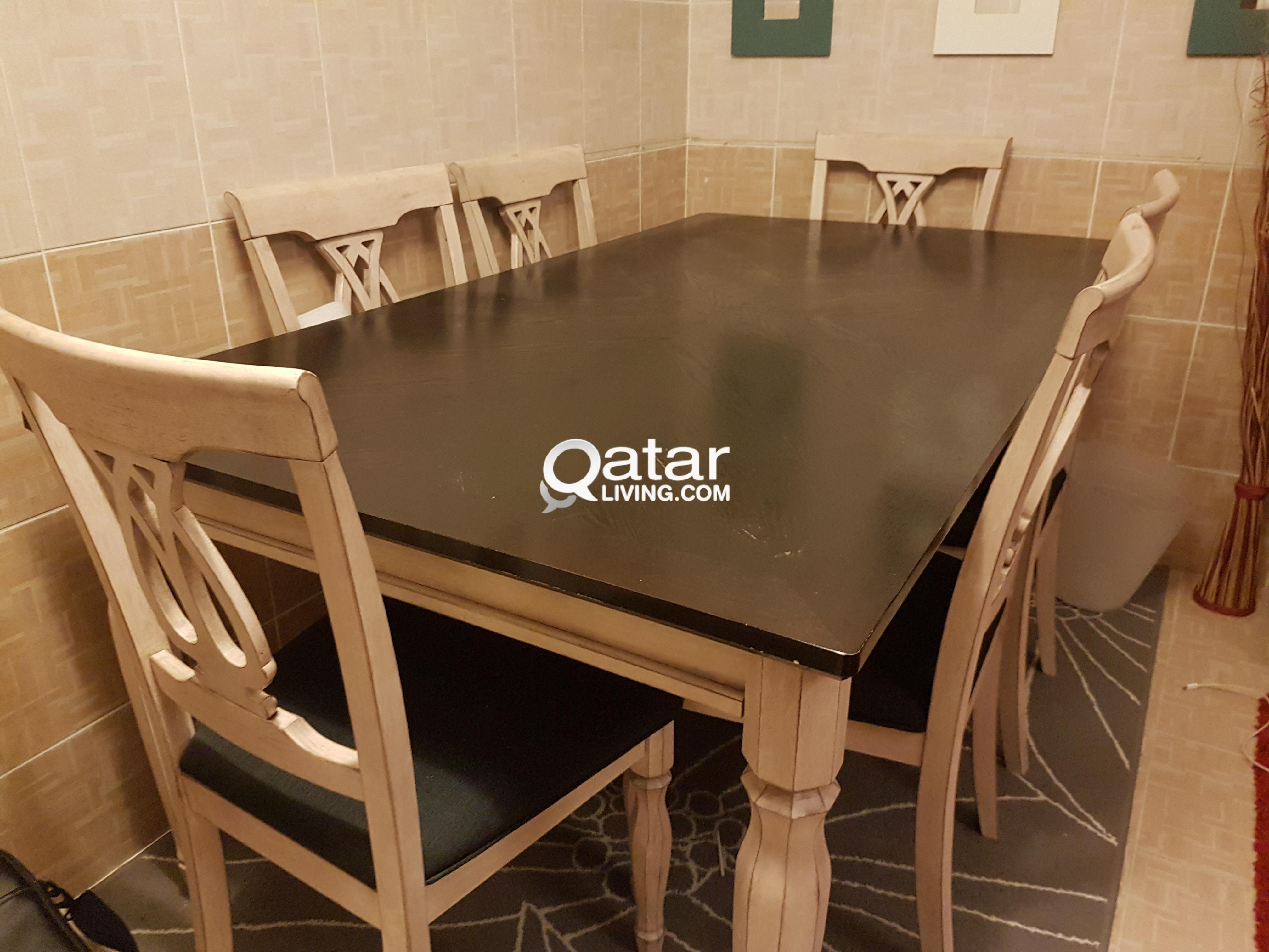 Dining table with chairs for sale qatar living