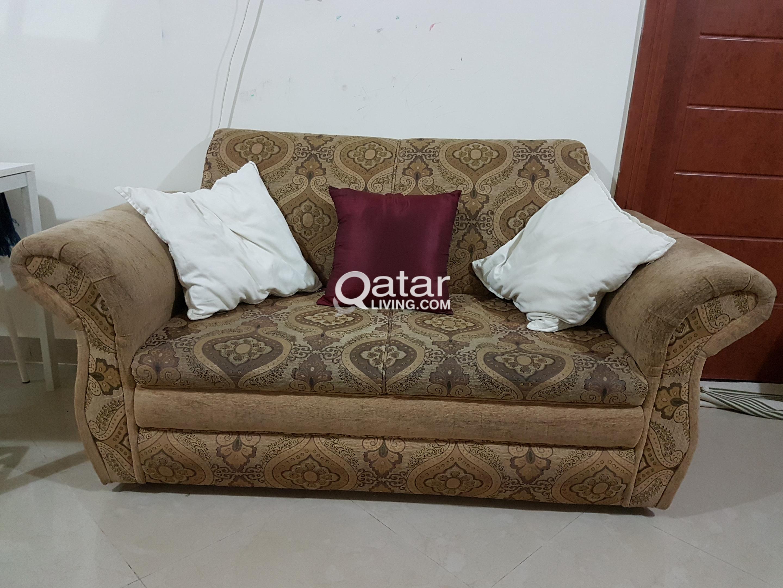 Sofa Set Cupboards Shelf And Single Bed Take Away Price Qatar Living