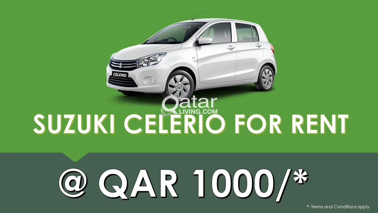 Budget Car rental from QAR 1000 only.