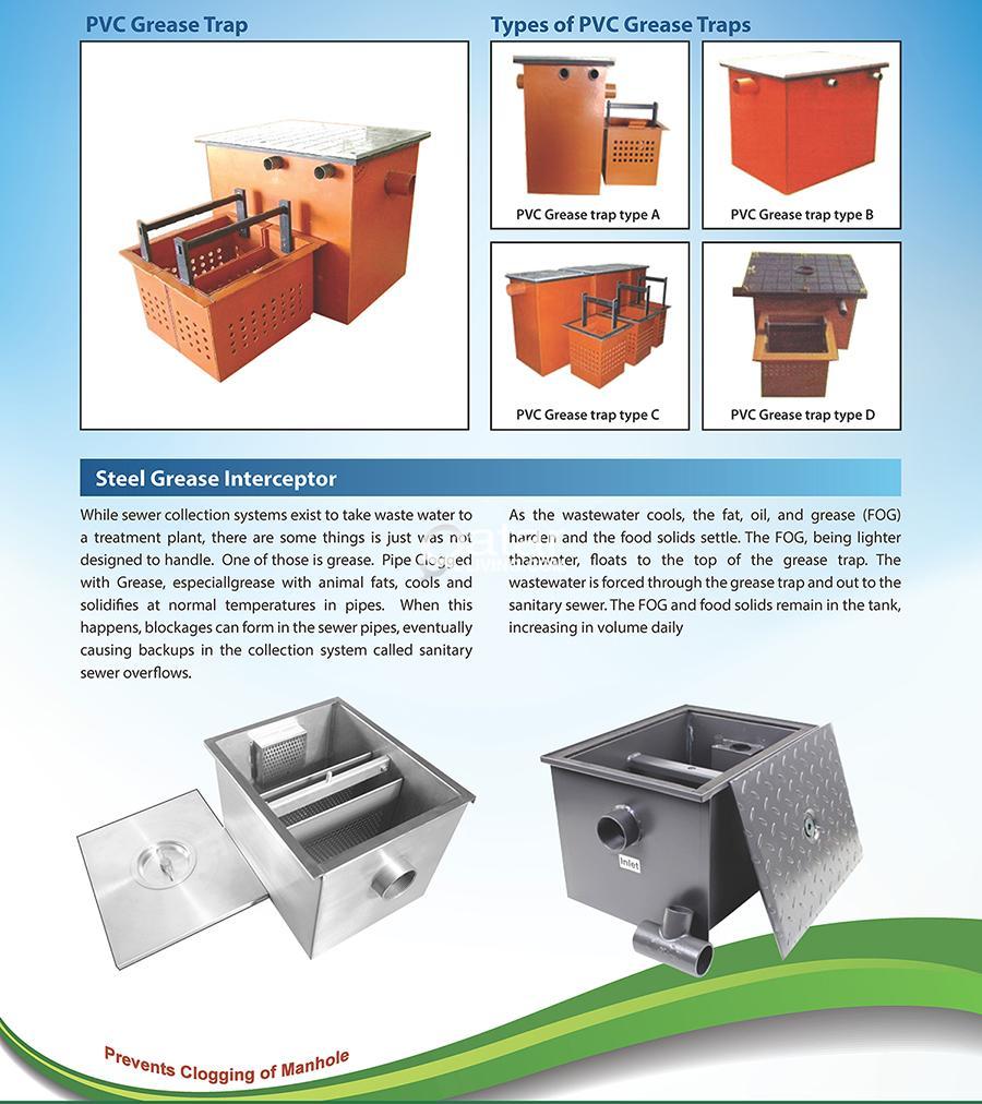 Grease , Oil , PVC STEEL Interceptors / Grease , Sand Traps