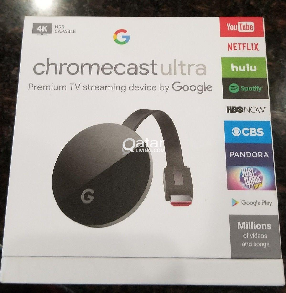 Google Chromecast 4K Ultra Black Digital Media Streamer | Qatar Living