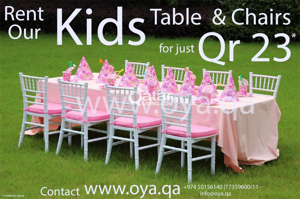 tables and chairs (kids & adult) | qatar living