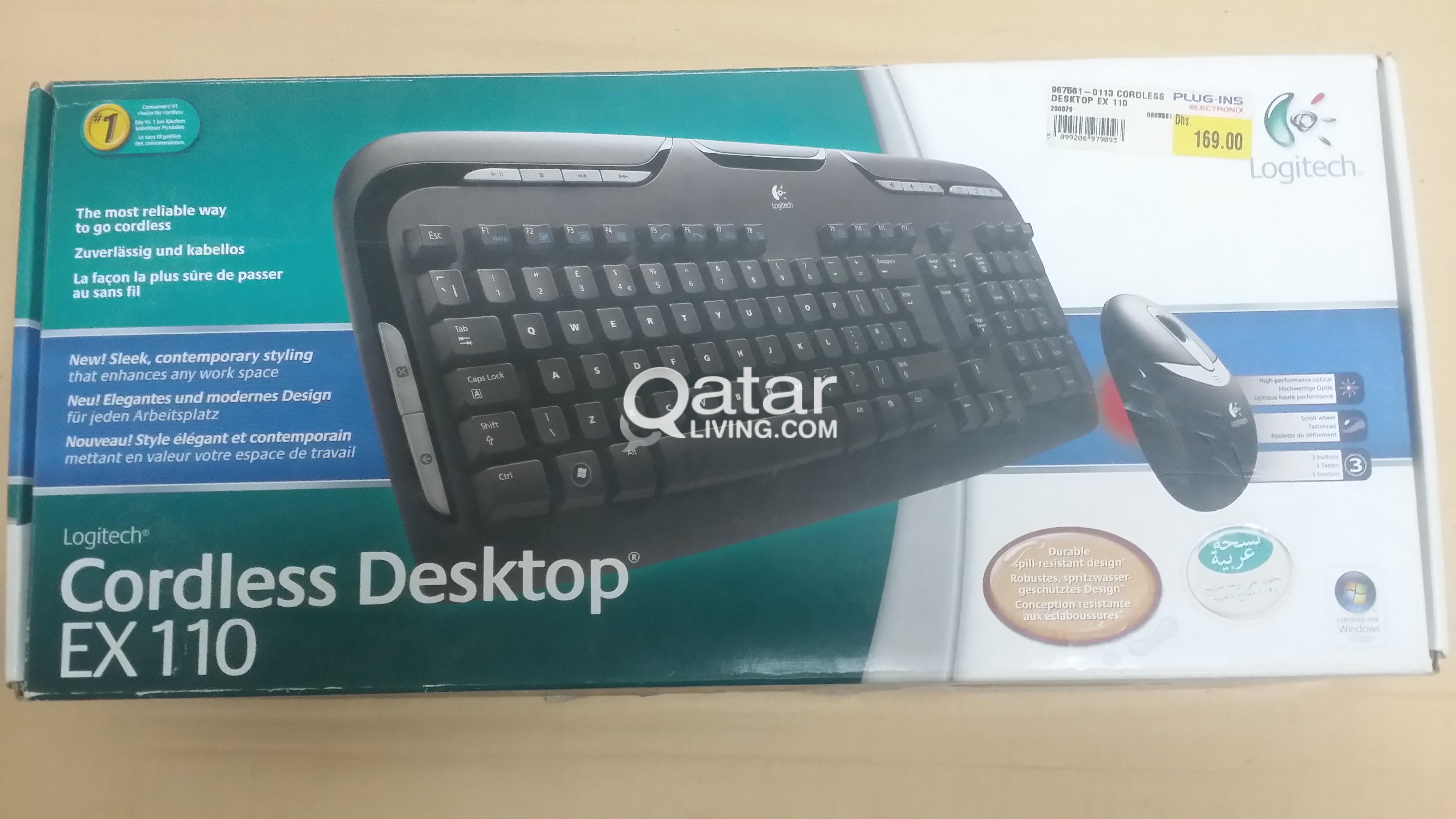 Wireless Keyboard Mouse Combo Logitech EX110