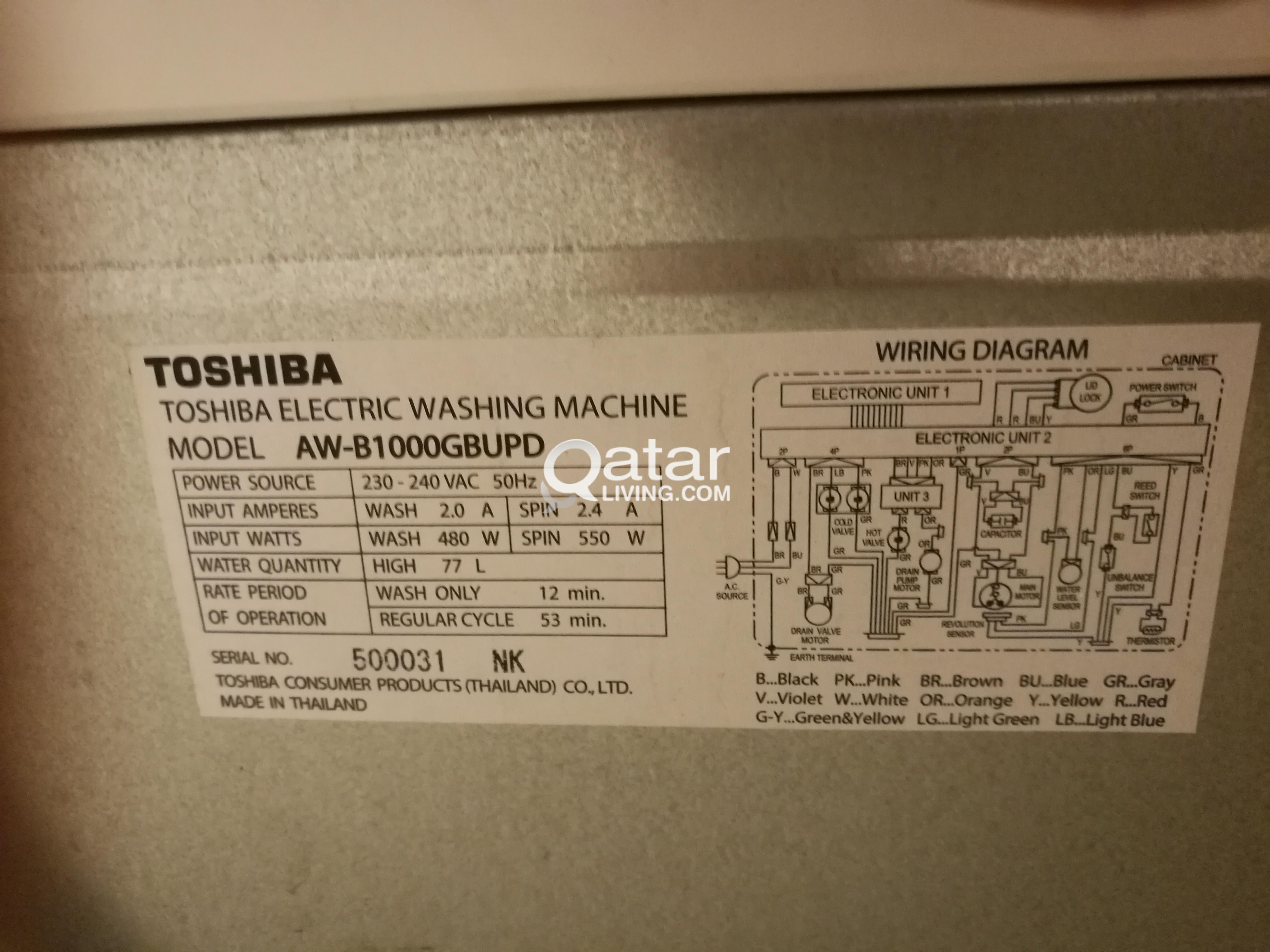 Toshiba Washing Machine Wiring Diagram Library Title Information
