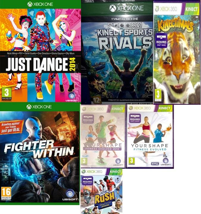 Kinect games for xbox one and 360, minecraft and lego games
