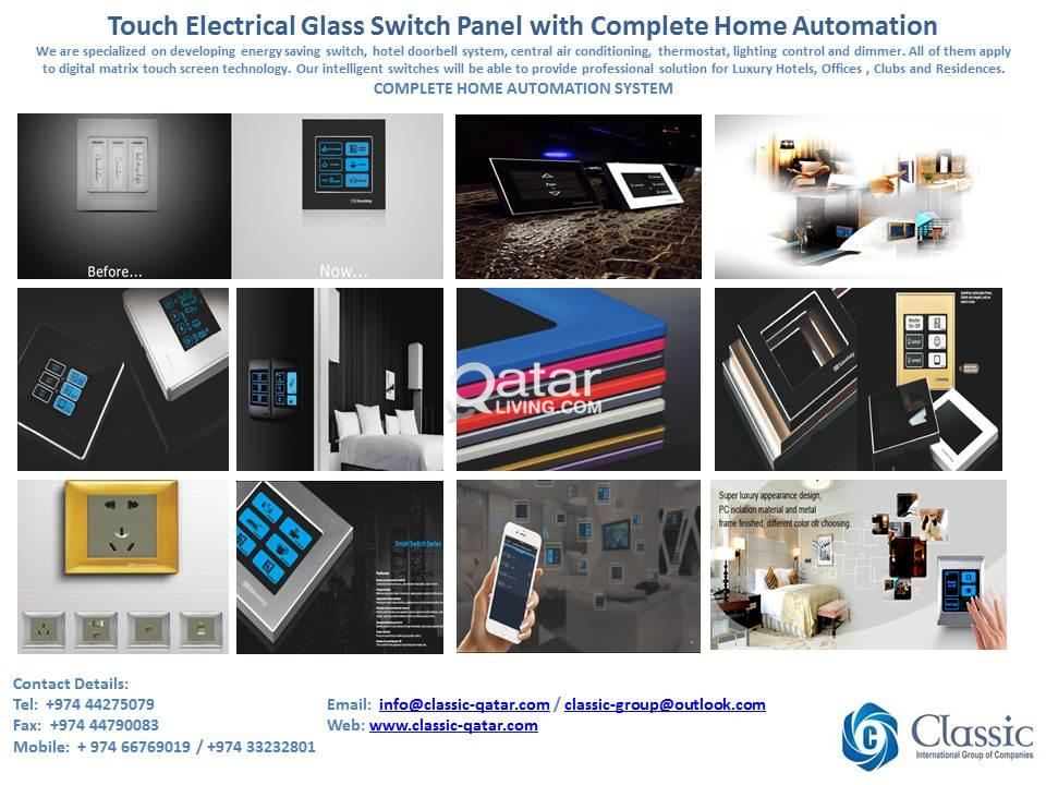 Available Touch Electrical Glass Switch Panel with Complete