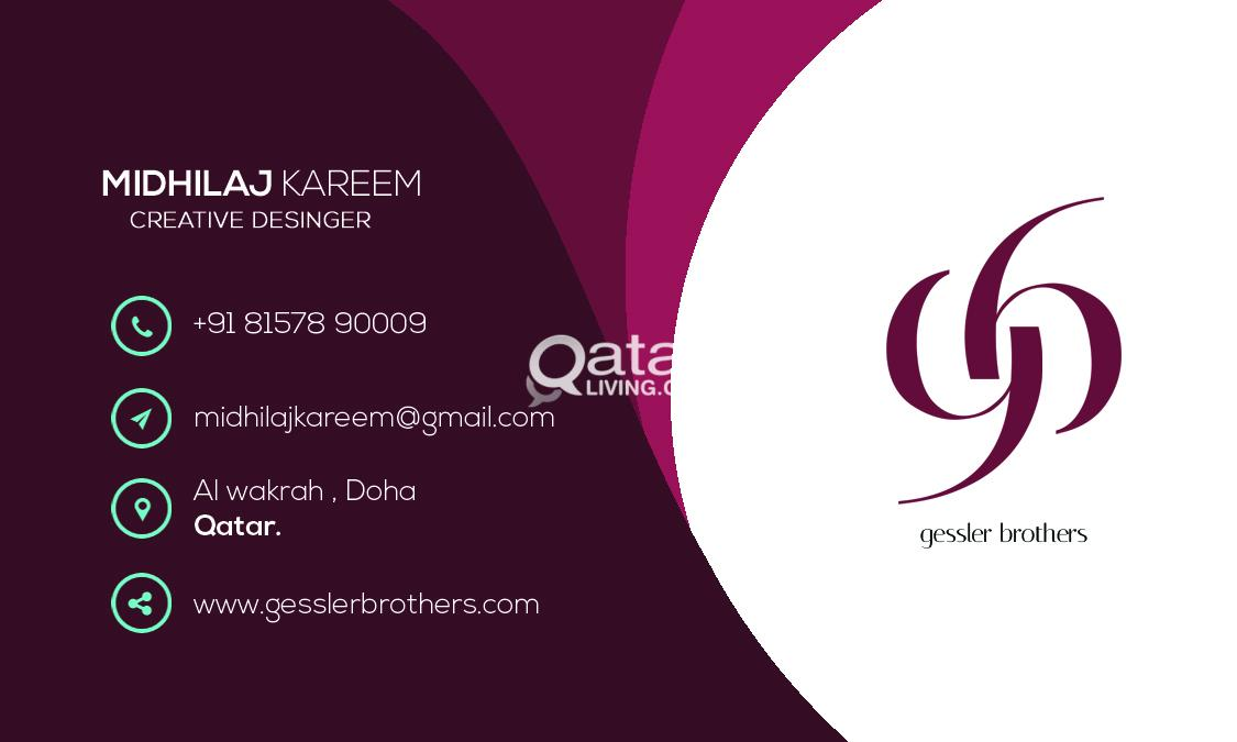 Business cards qatar living title reheart Image collections