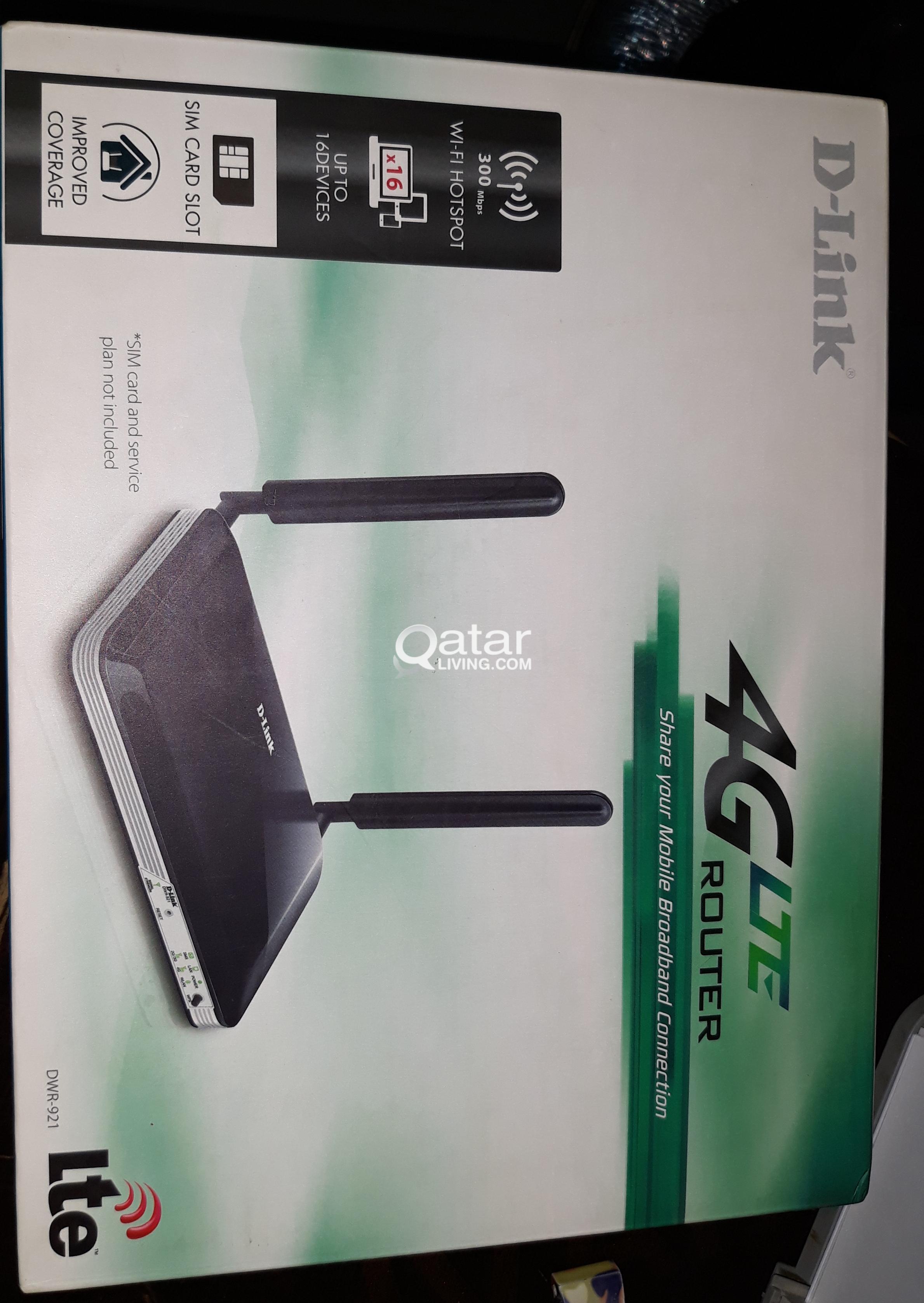 Ooredoo NETGEAR 4G+ (MYFI) & D-Link Router DWR-921 | Qatar Living