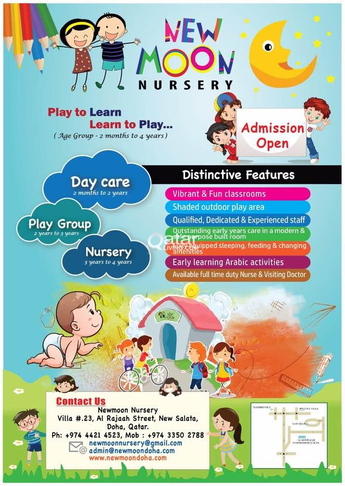 Le Information Admissions Open In New Moon Nursery