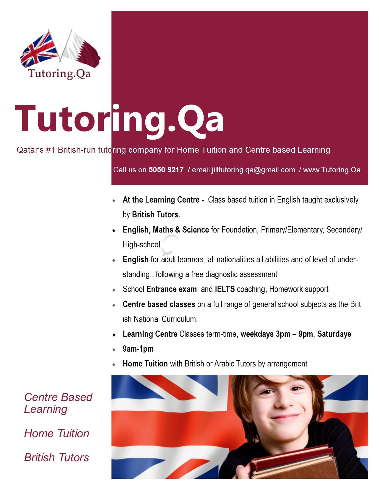 Tutoring.Qa Qatar\'s #1 UK-run tutoring company for Home Tuition and ...