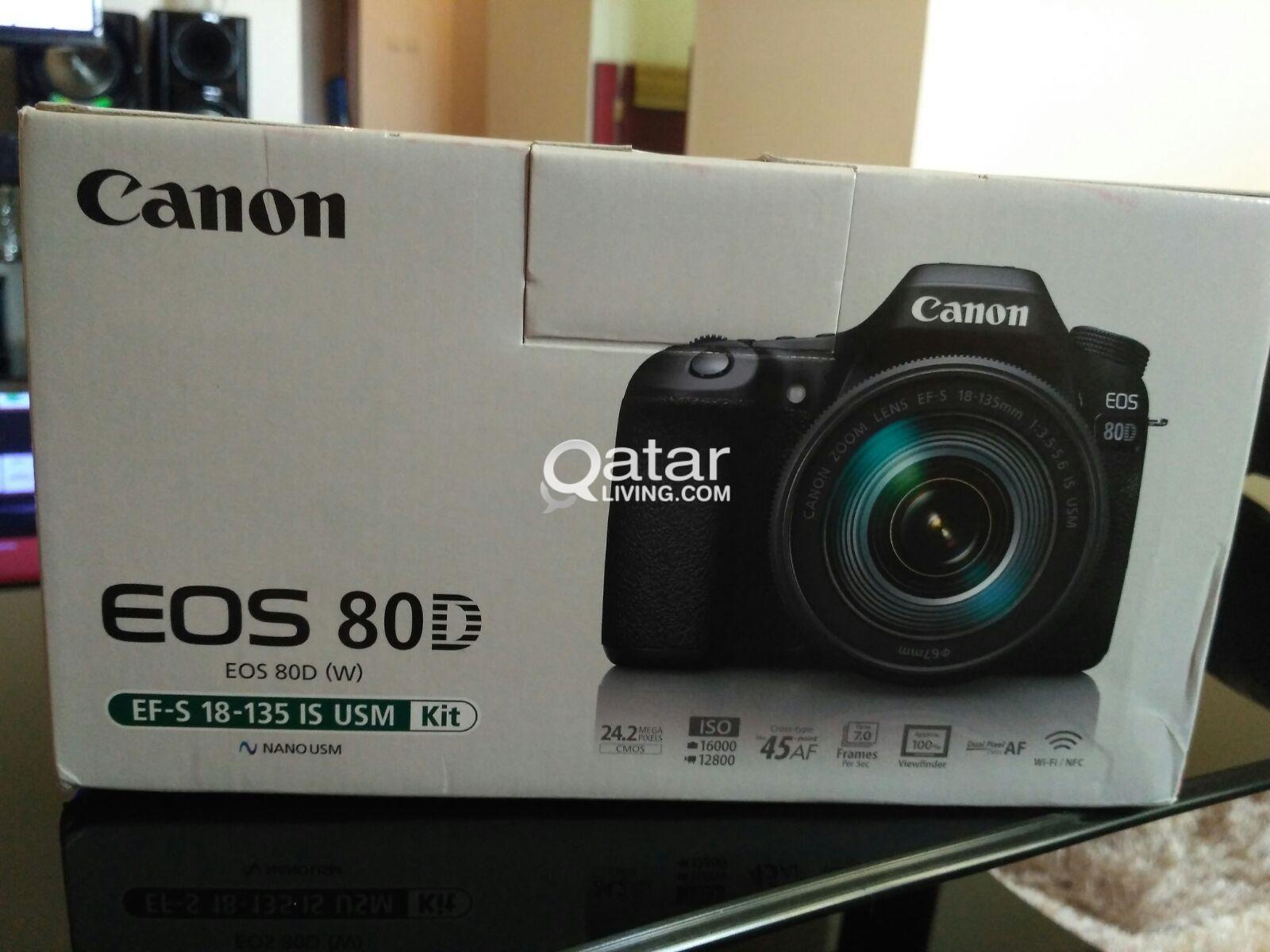 Canon Eos 80d 18 135 Usm Kit 242mp Wifi Nfc Fullhd Dslr Camera 70d Lens 4