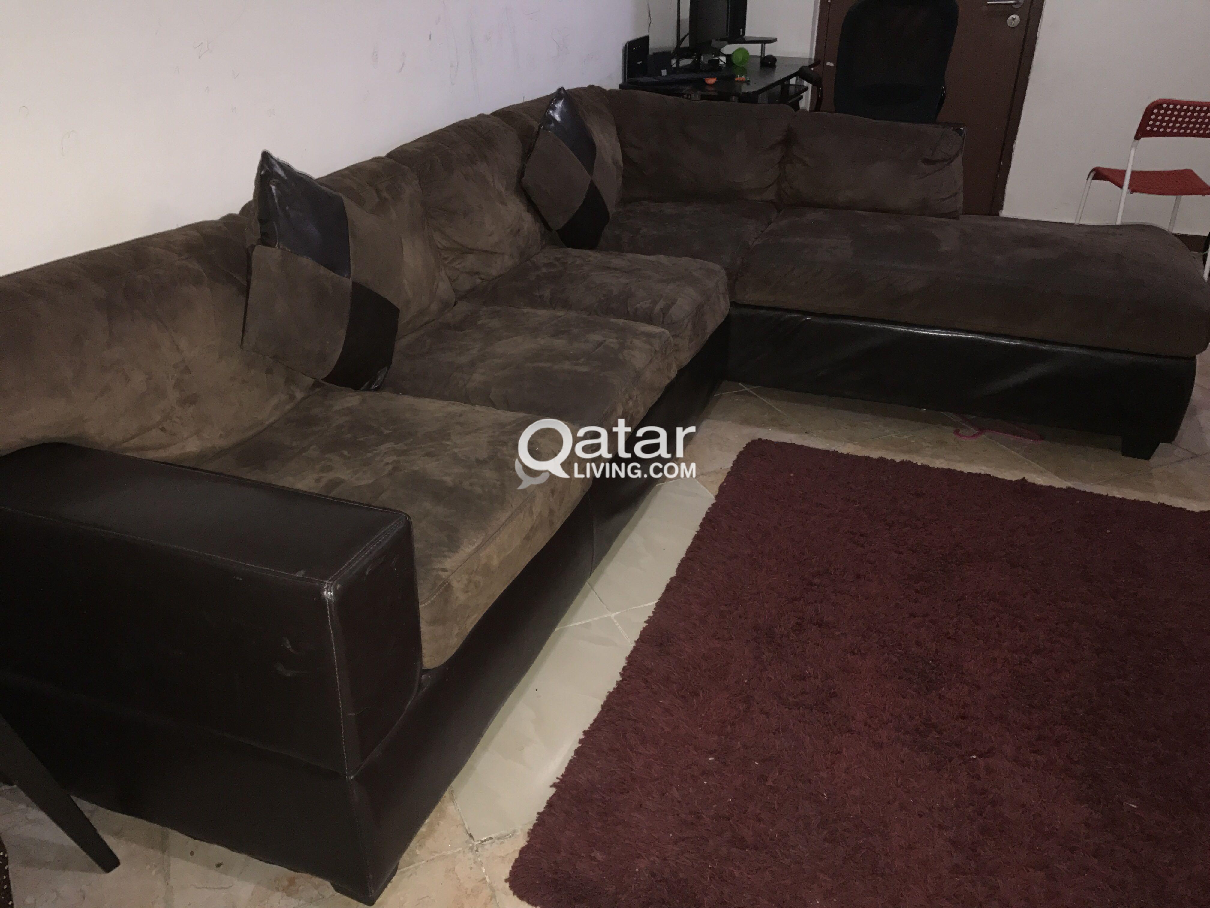 home center l shape sofa for sale | qatar living
