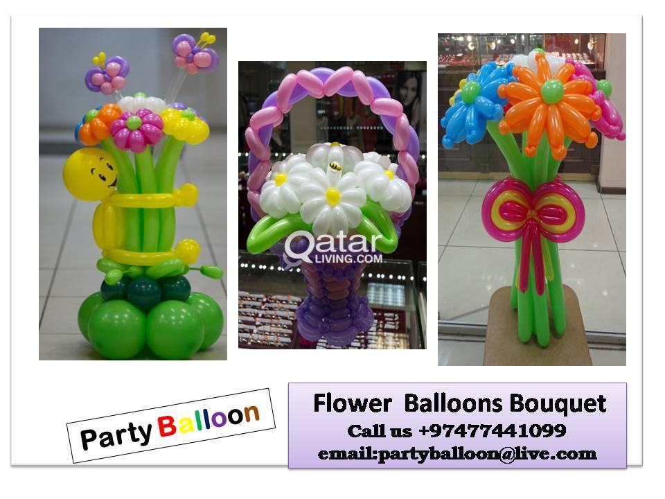 PARTY BALLOON - FLOWER BALLOONS BOUQUET - 77441099   Qatar Living