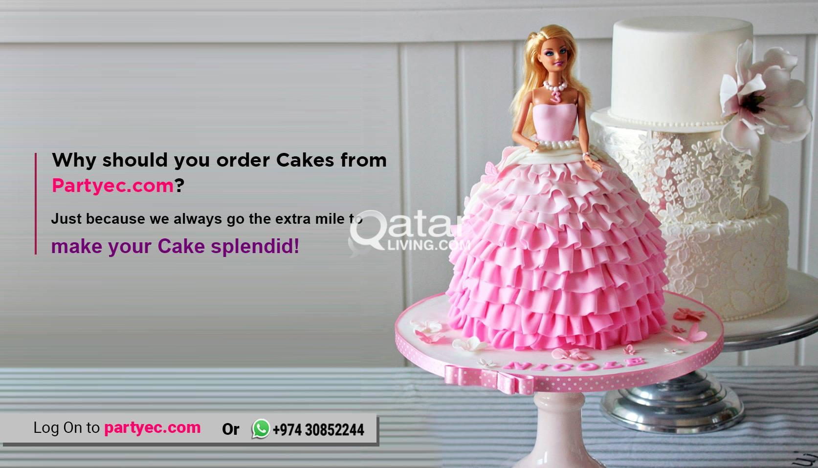 Order Customized Cakes Online In Qatar