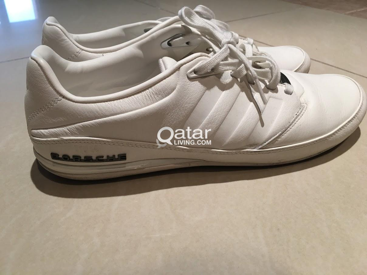 f30cf734101a NEW SIZE 44 Men s White Leather Adidas Porsche Design Typ 64 2.0 ...
