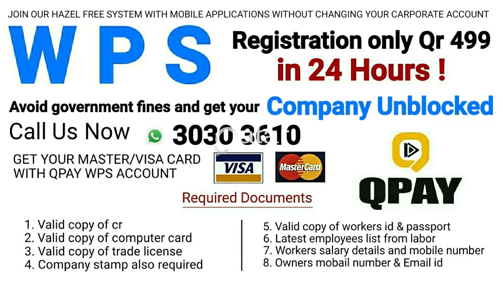 PRO SERVICE WPS Registration in 24 hours CALL US NOW 3030 3610