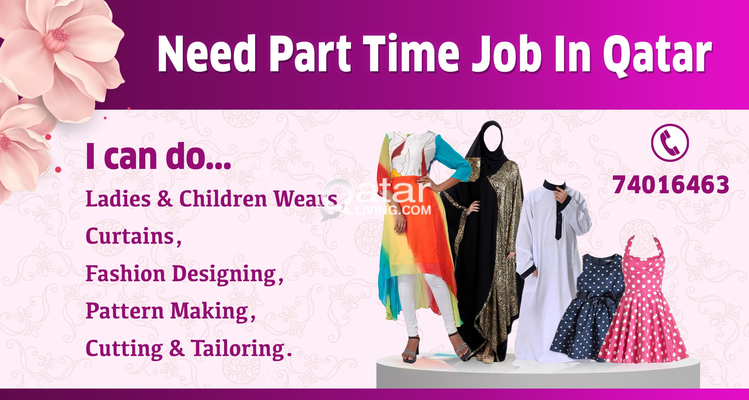 Dress Maker Tailor Part Time Job Wanted Qatar Living