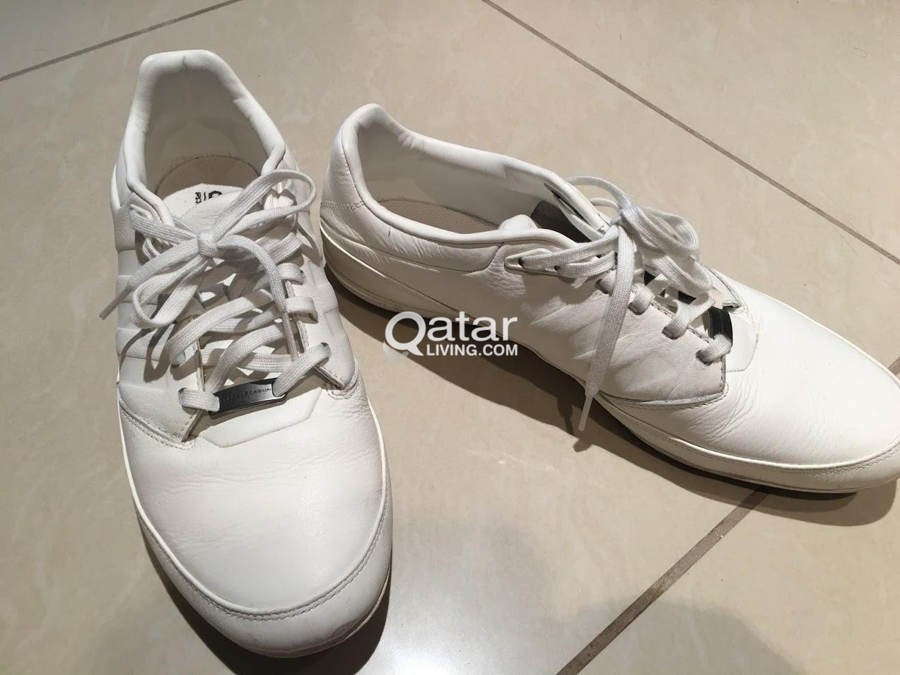 516828367b9ded SIZE 44 White Leather Adidas Porsche Design Typ 64 2.0 Shoes
