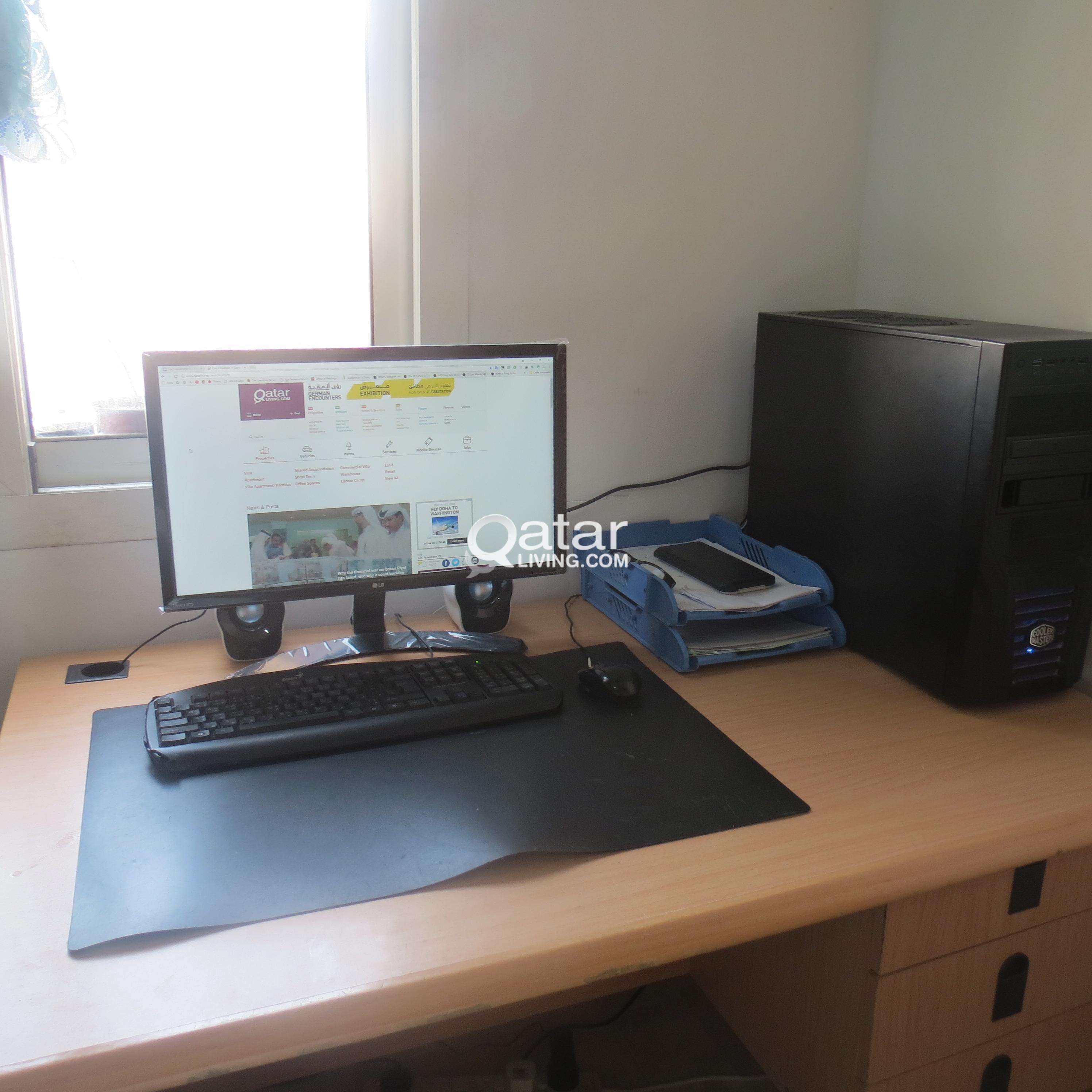i5 4460 GTX 95 Custom Desktop PC with LG monitor and Razer