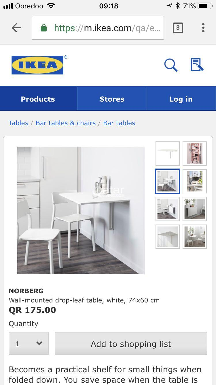 Le Information Ikea Norberg Wall Mounted Drop Leaf Table