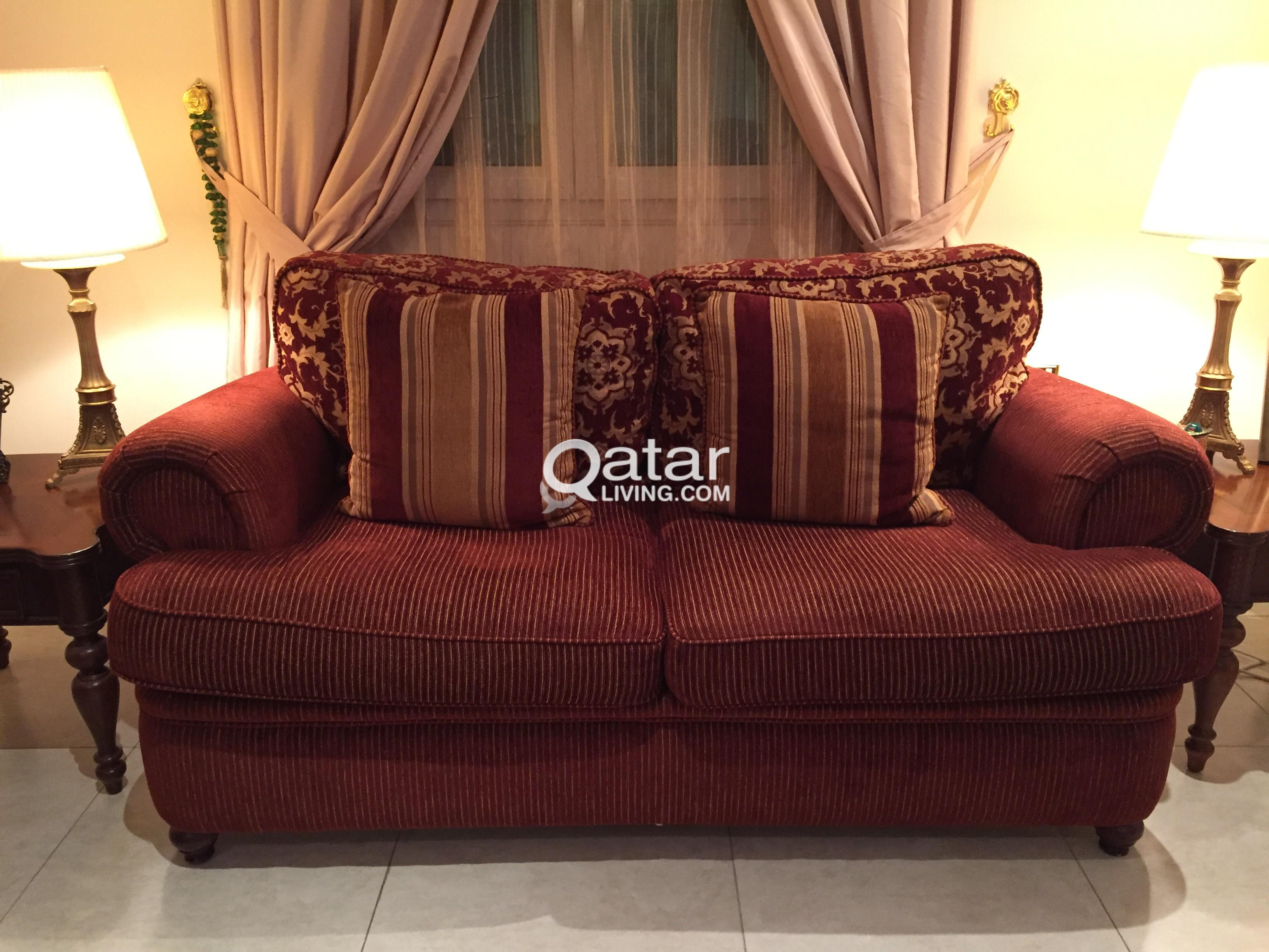 Maroon Sofa Set For 3 2 1 American Made Qatar Living
