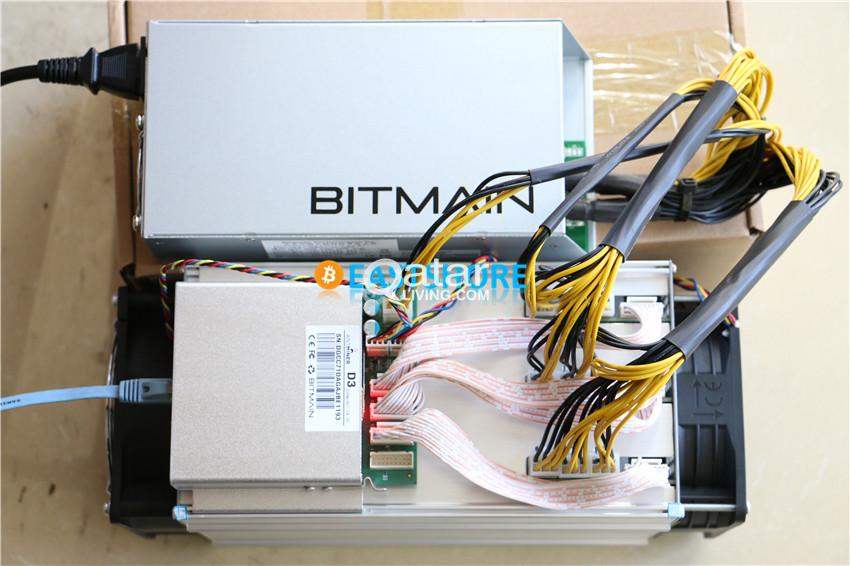AntMiner D3 19 3 GH/s X11 ASIC Dash Miner with Power Supply