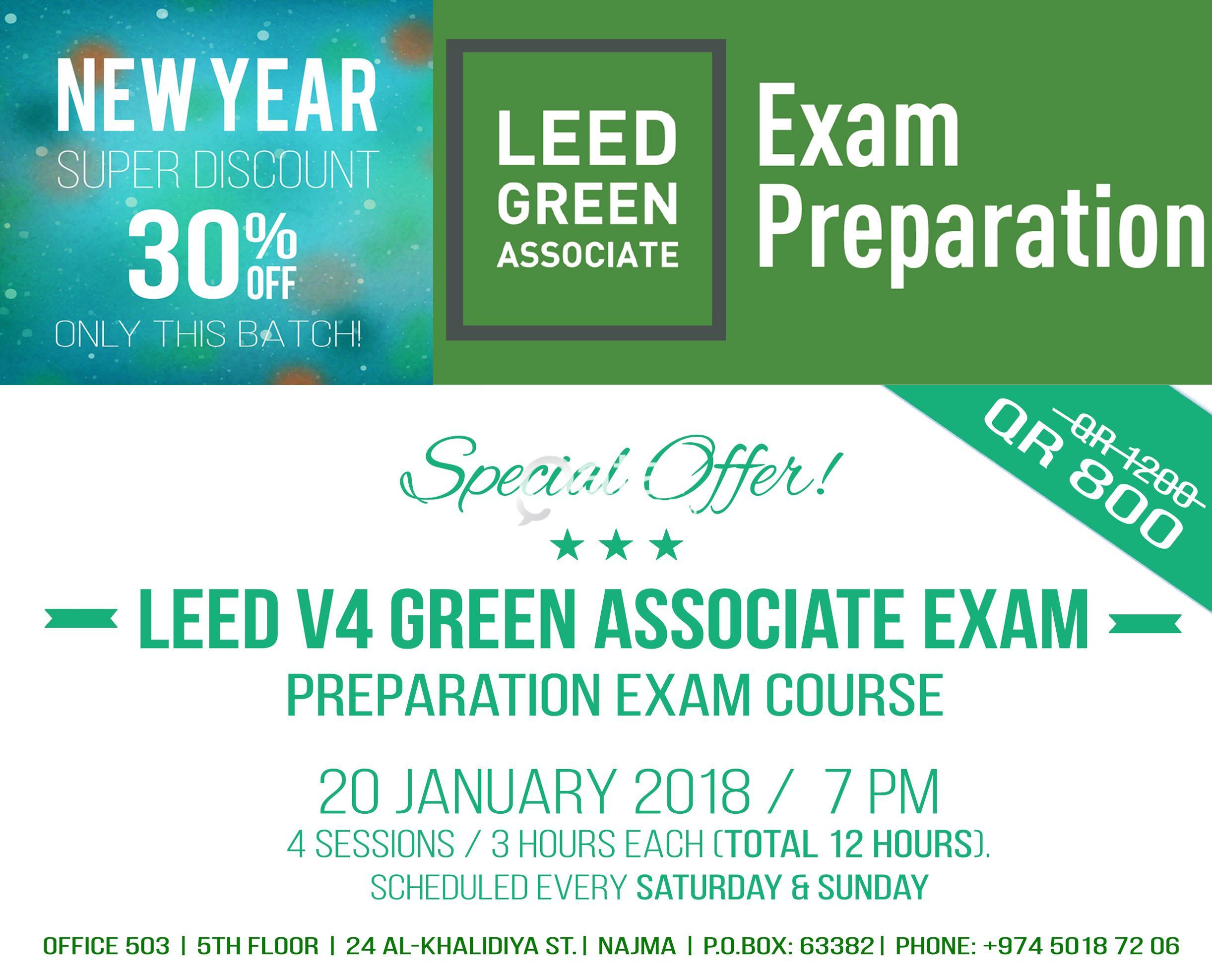 Leed V4 Green Associate Exam Prep Course 20 January 2018 Qatar