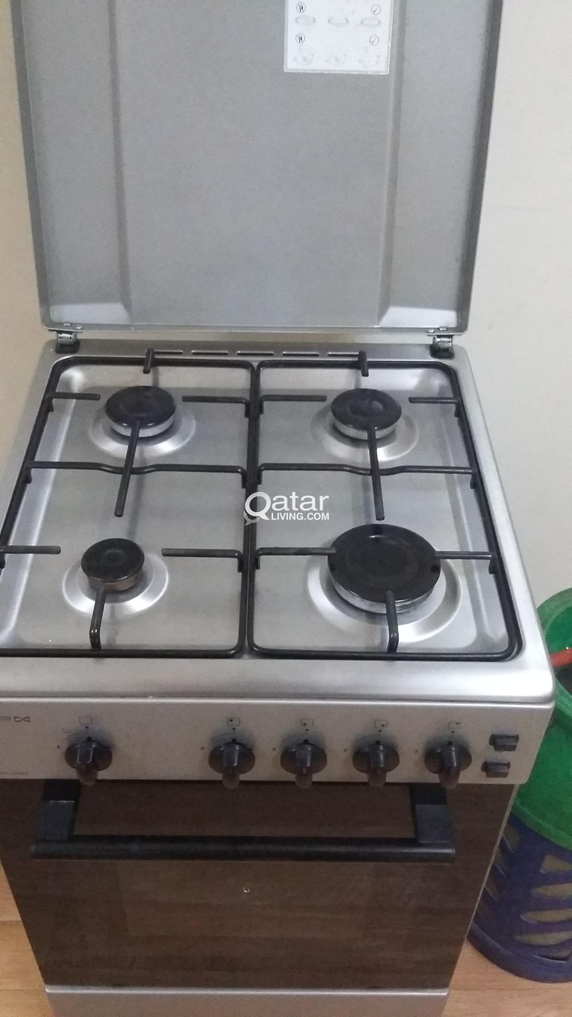 DAEWOO GAS COOKER WITH OVEN + GAS CYLINDER | Qatar Living