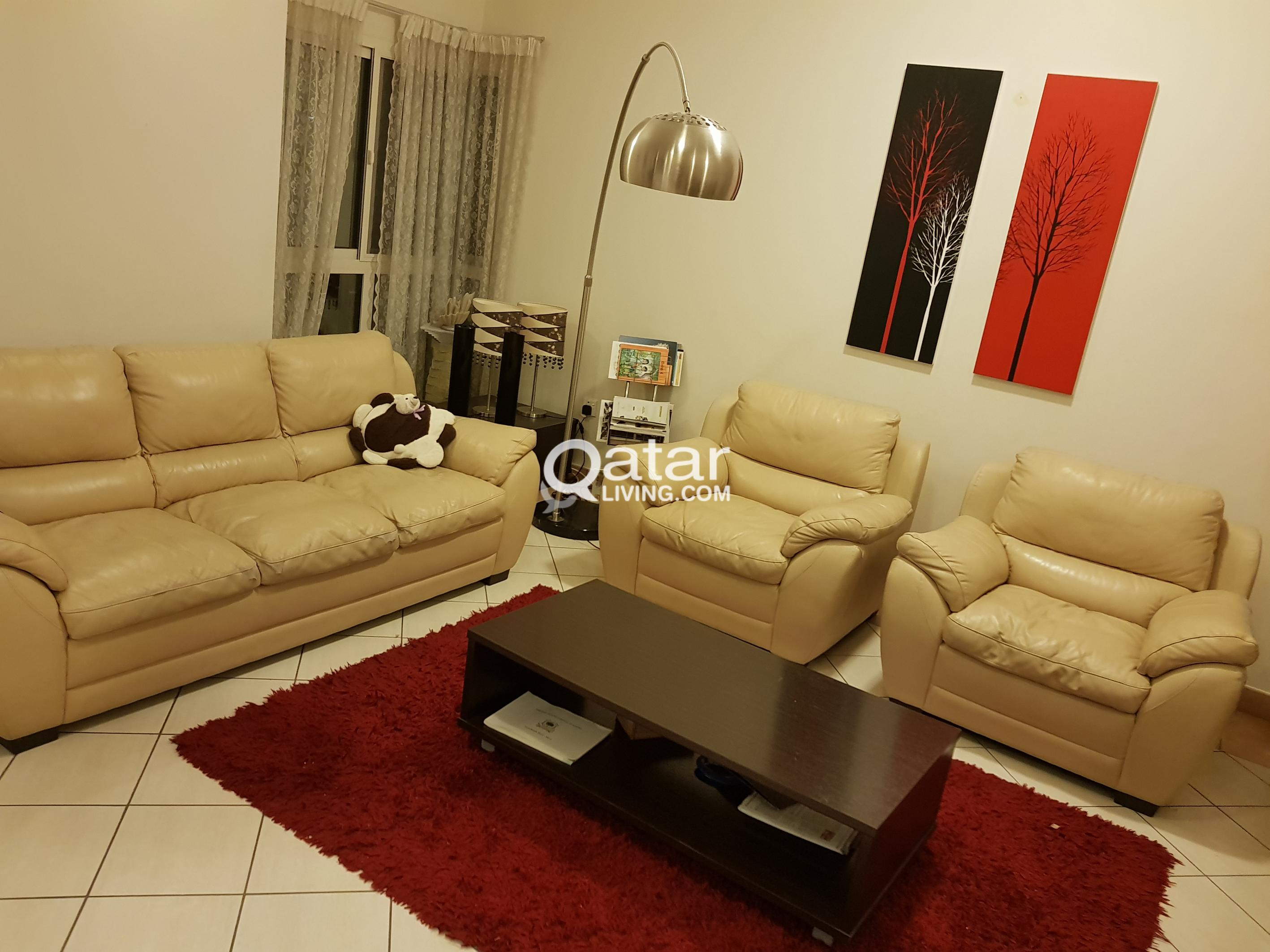 Home Center Leather Sofa Set 3 1 1 Coffee Table Qatar Living ~ Sofa Set With Center Table
