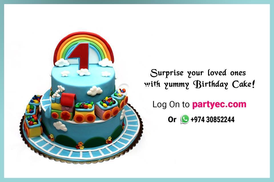 Awe Inspiring Order Birthday Cakes Online In Qatar Qatar Living Personalised Birthday Cards Xaembasilily Jamesorg