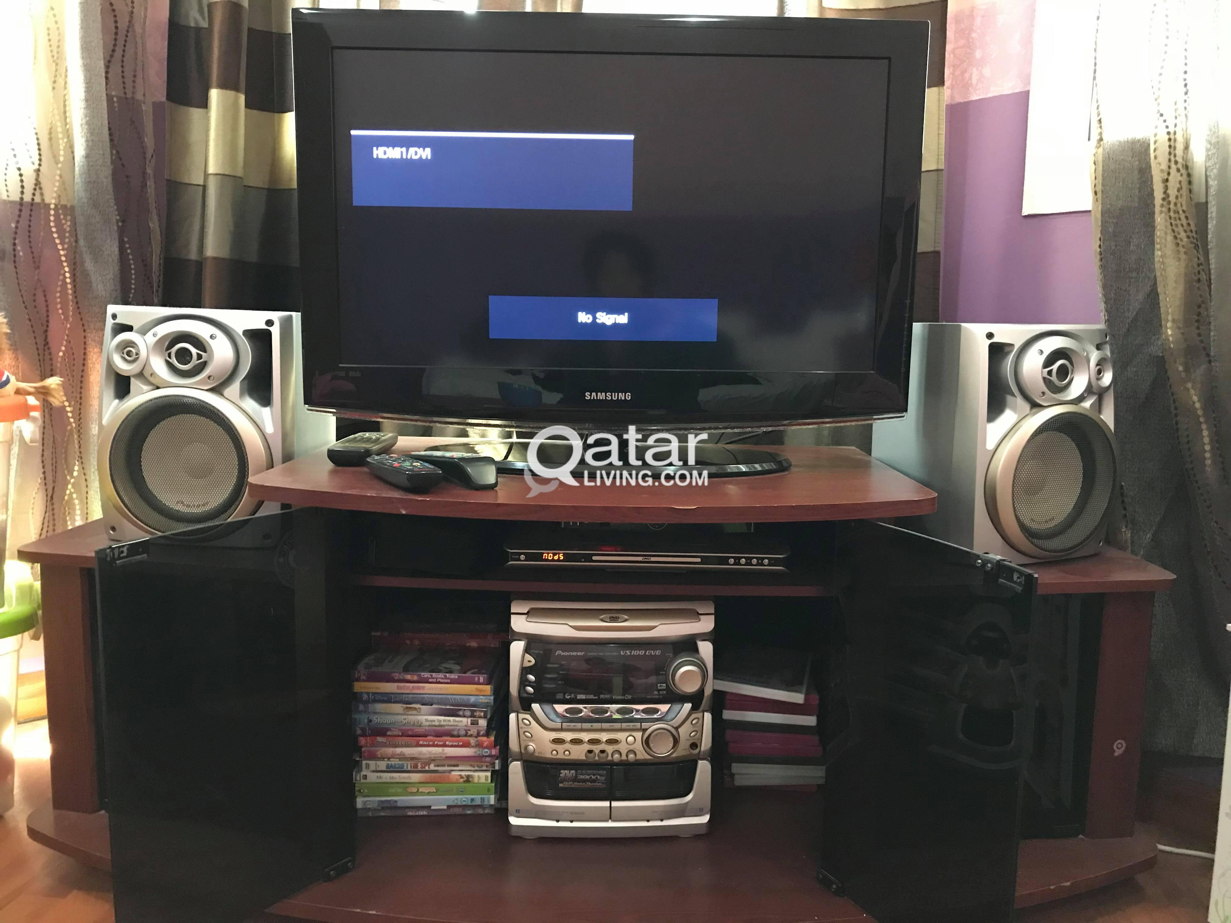 TV/DVD/TV Furniture/Pioneer Component SET! | Qatar Living