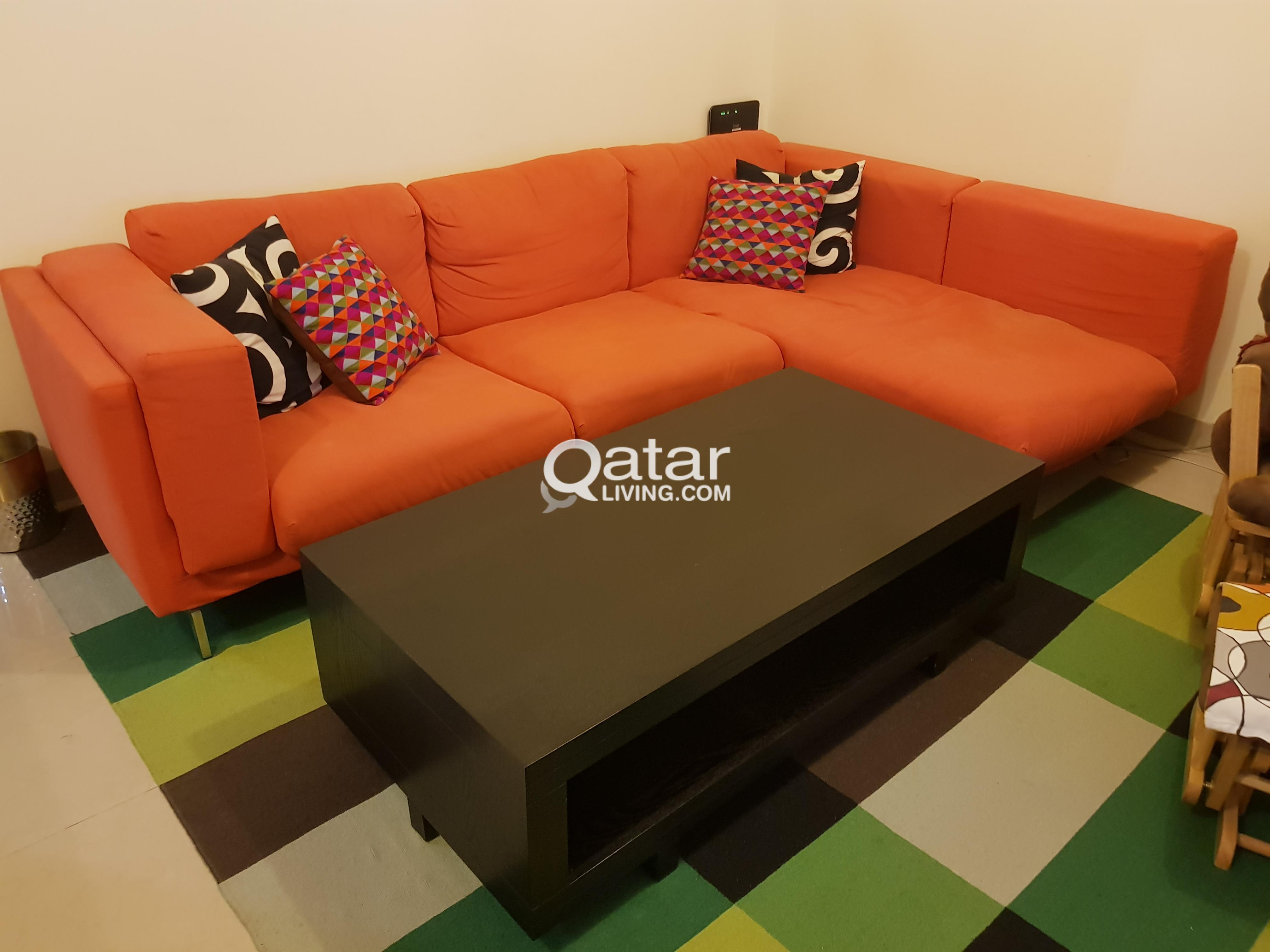 Title; Title; Title; Title. Information. L Shape Orange Couch ...