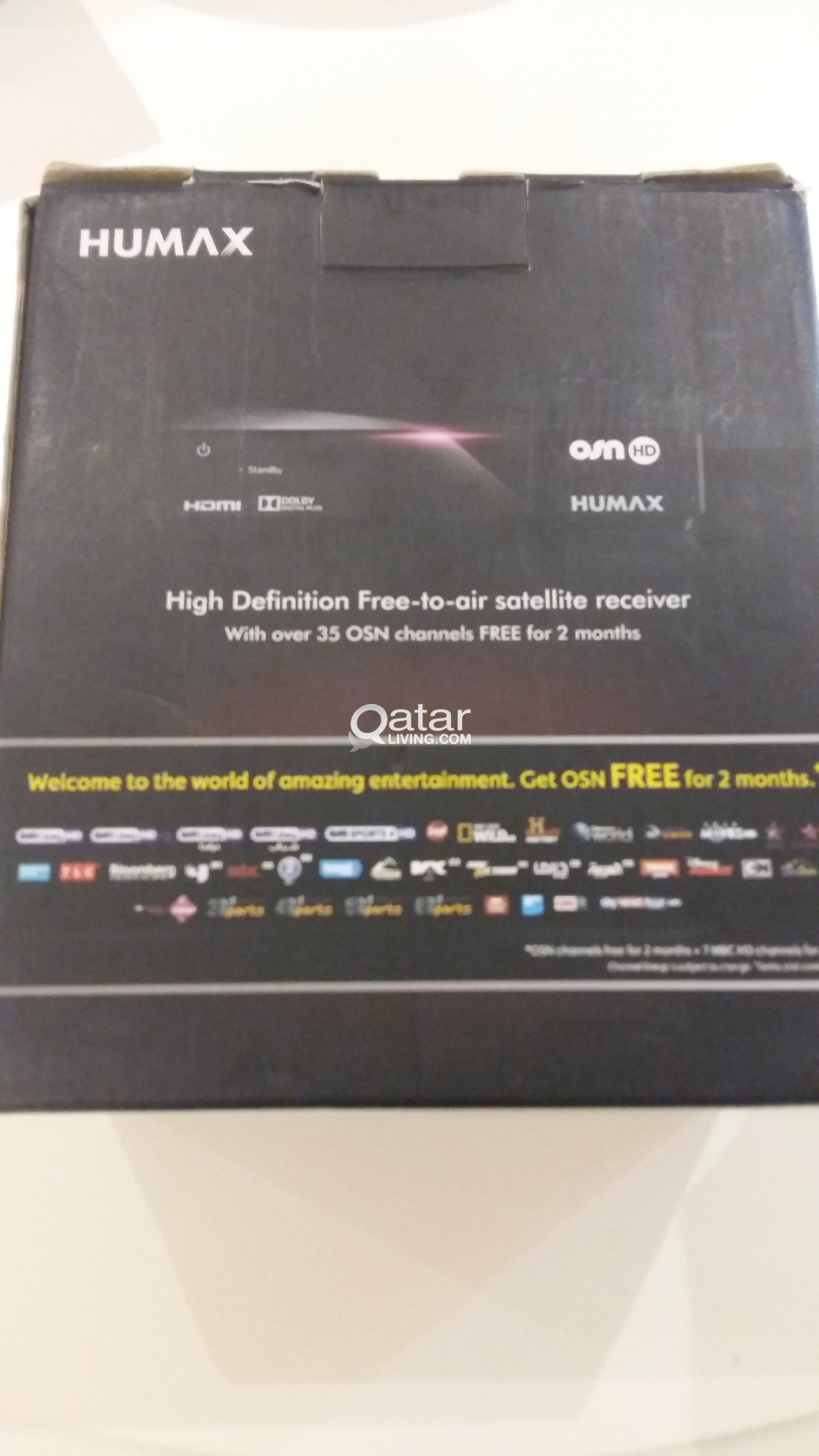 NOT USED DECODER OSN HUMAX HD (2 MONTHS OSN FREE) | Qatar Living