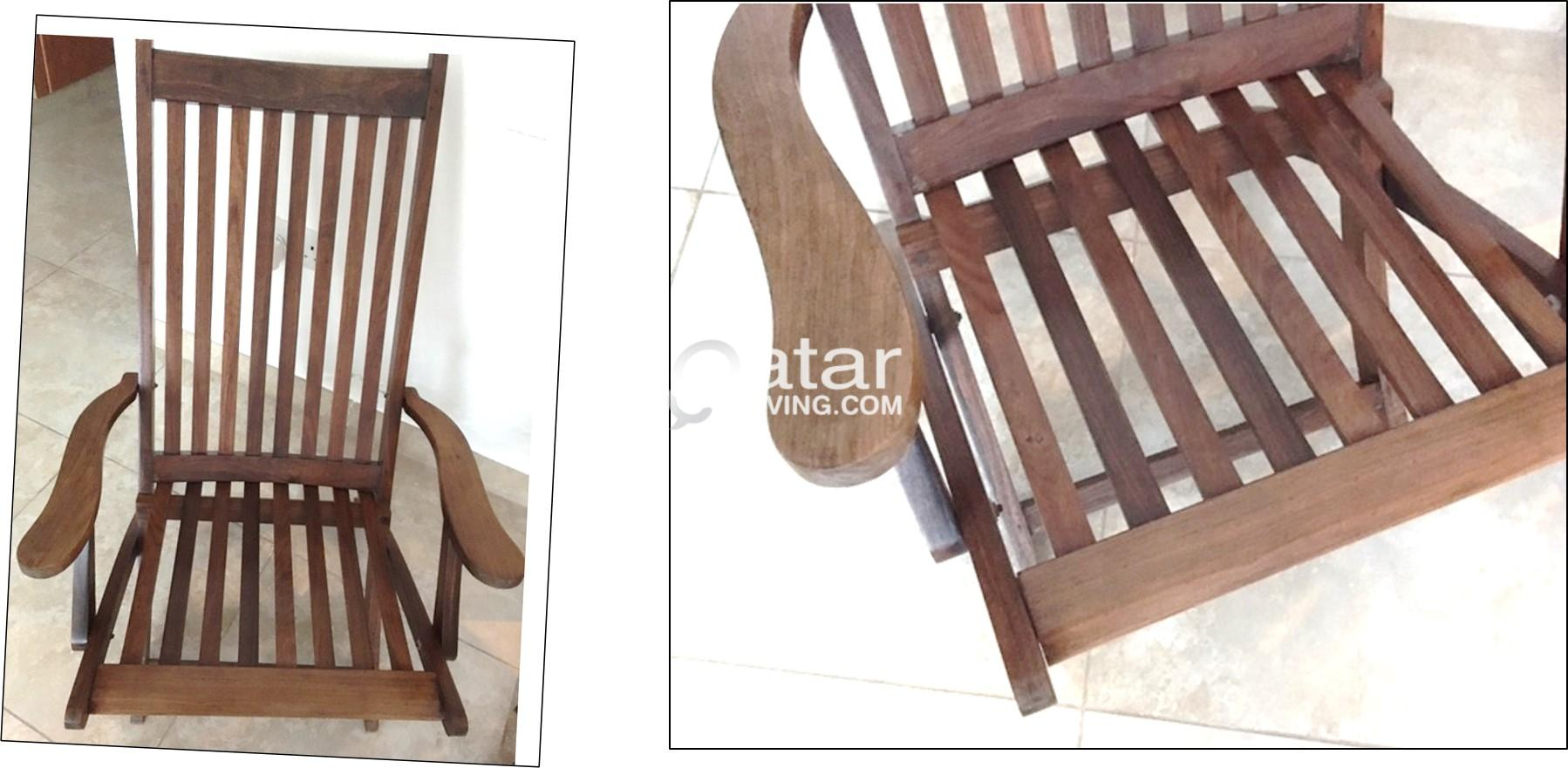 vintage wood chairs foldable for outdoor and indoor qatar living