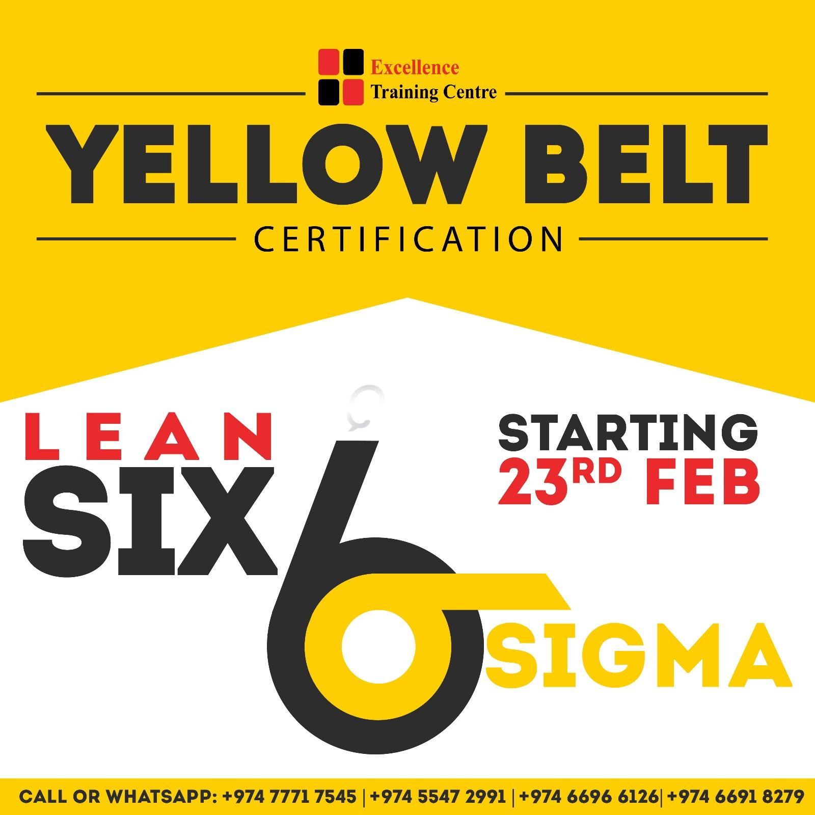 Lean Six Sigma Certification Yellow Belt Course Starting From 23rd