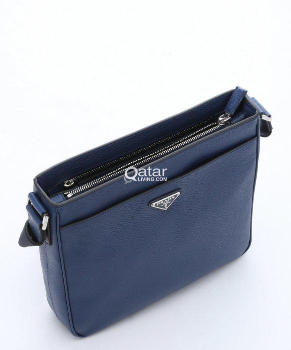 21006eca6e title · title · title · title · title · title · title. Information.  Original Prada Blue Saffiano Leather Messenger Bag