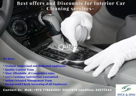 BEST PRICE FOR INTERIOR CAR CLEANING HURRY UP AND GET THE OFFER