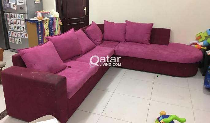 L-TYPE SOFA SET GOOD CONDITION   Qatar Living
