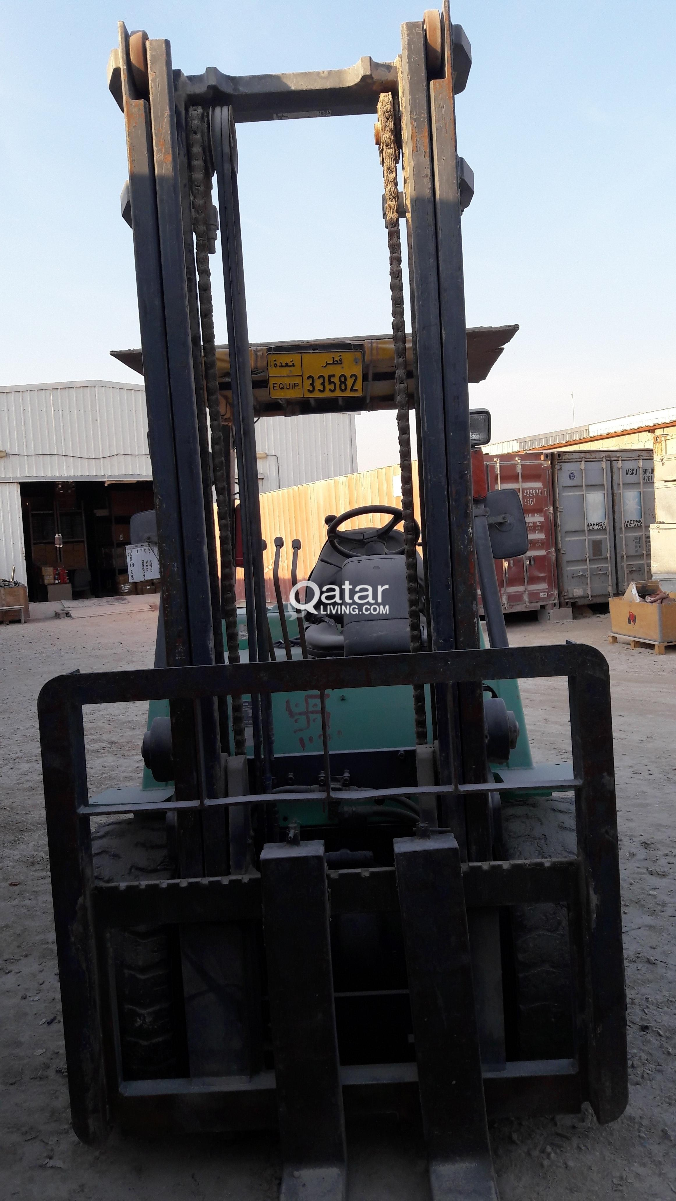 new hours forklifts used with equipment cushion electric original brand lift lbs included mitsubishi battery and up forklift sideshifter stand img fork