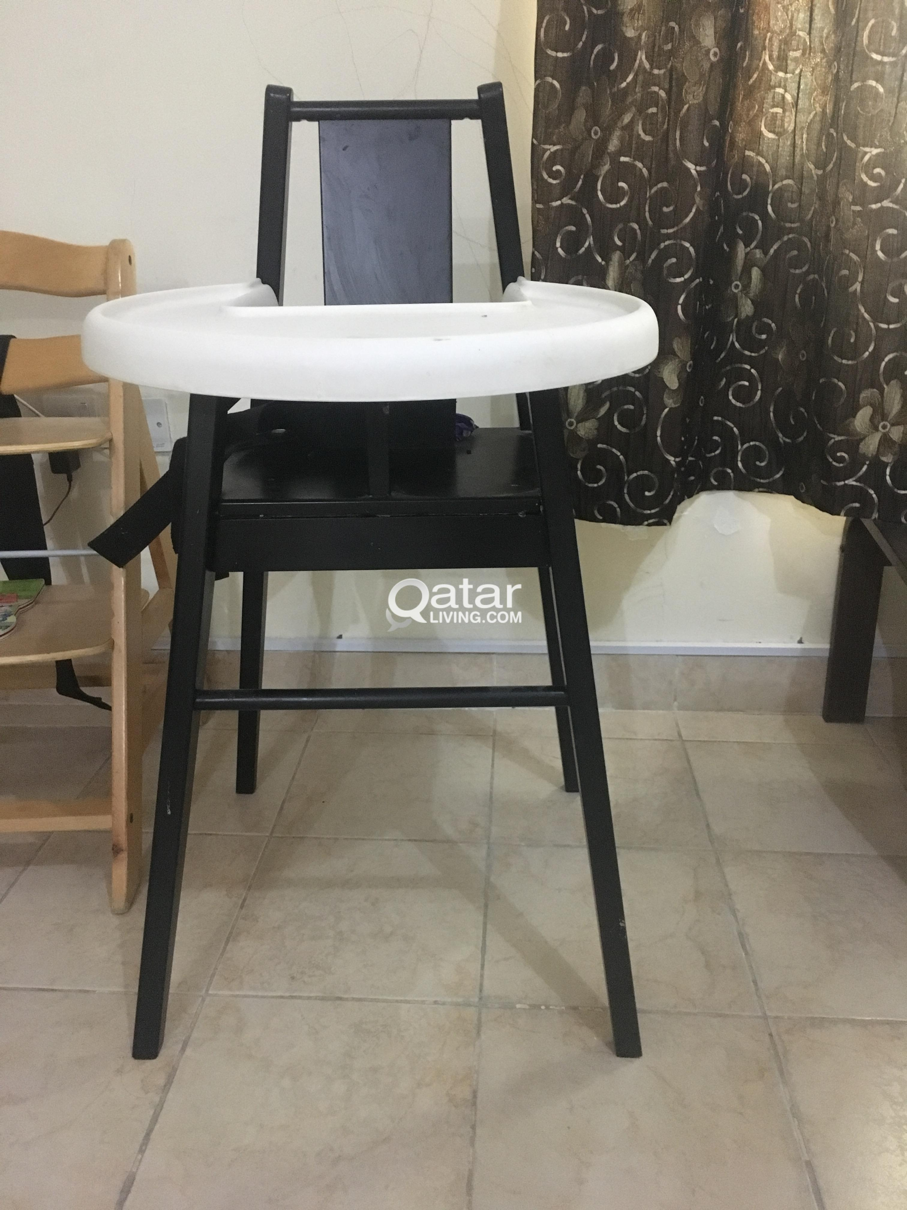 Wooden High Chair With Tray Qatar Living