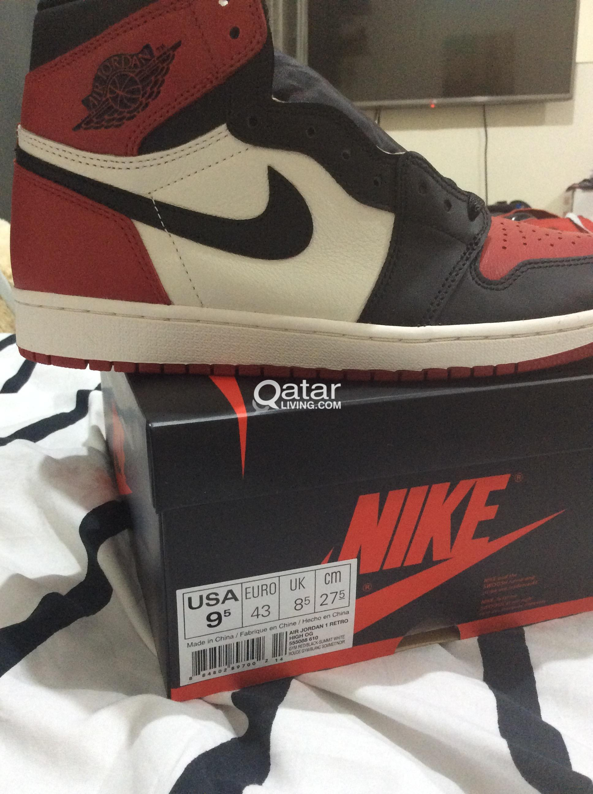 newest 21dd3 55934 Nike Air Jordan 1 Retro High Og Bred Toe- SOLD   Qatar Living