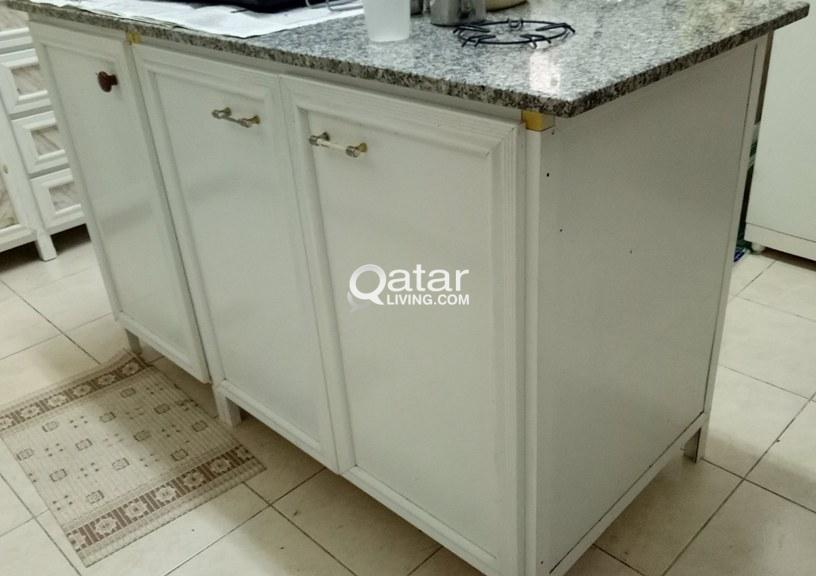 Aluminium Kitchen Cabinets With Double Sink And Double Dryers Qatar Living