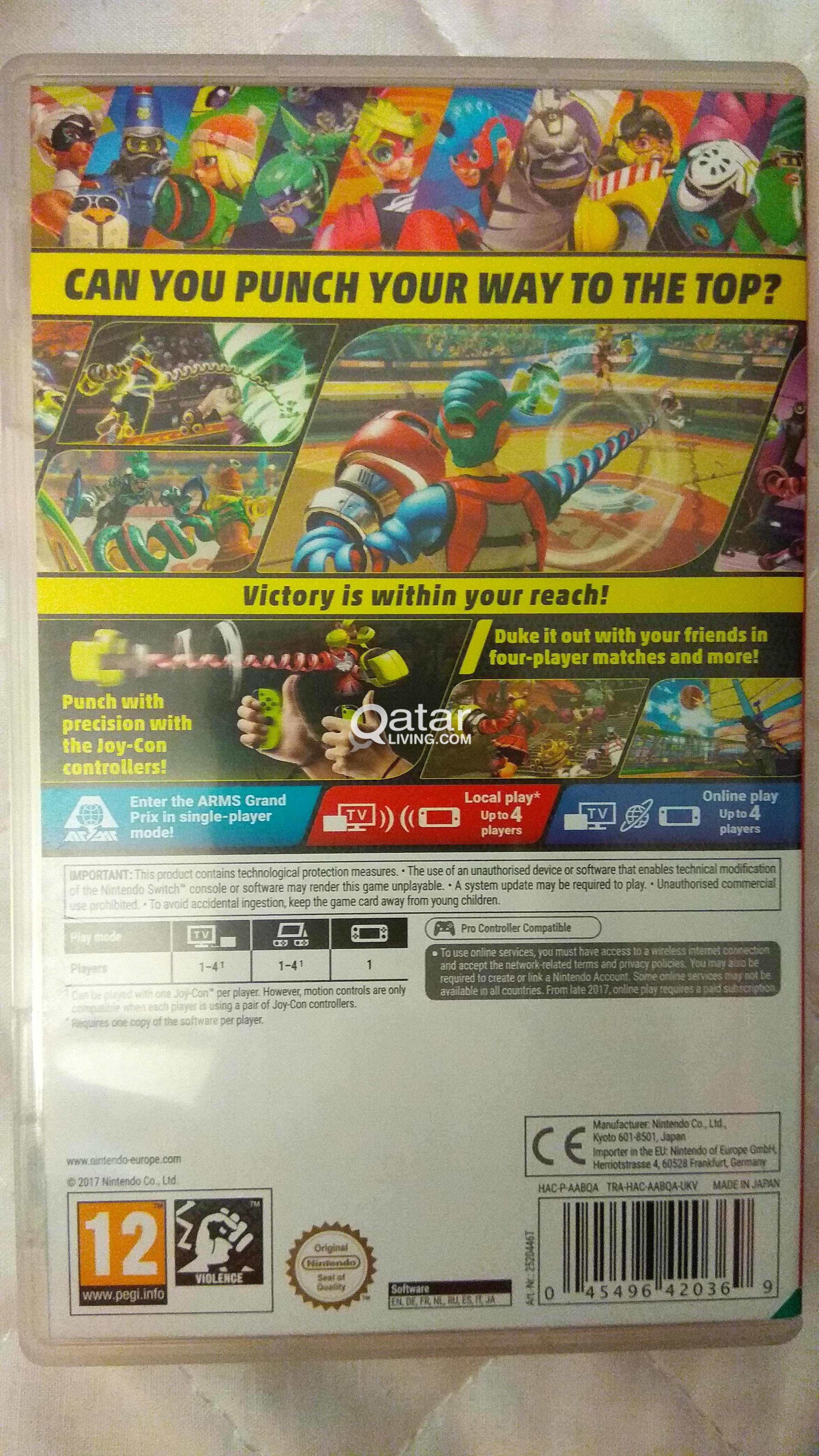 Nintendo Switch Arms Qatar Living Title